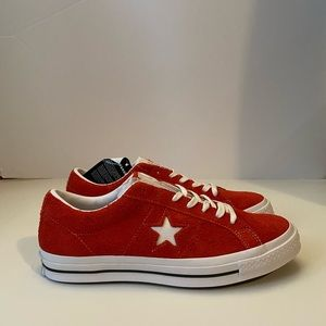 Converse One Star OX Red Suede White Chuck Taylor
